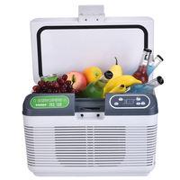 19L Auto Mini Refrigerator Portable Fridge Car Freezer Cooler Heater Dual Refrigeration System Daul Use Icebox LED Display