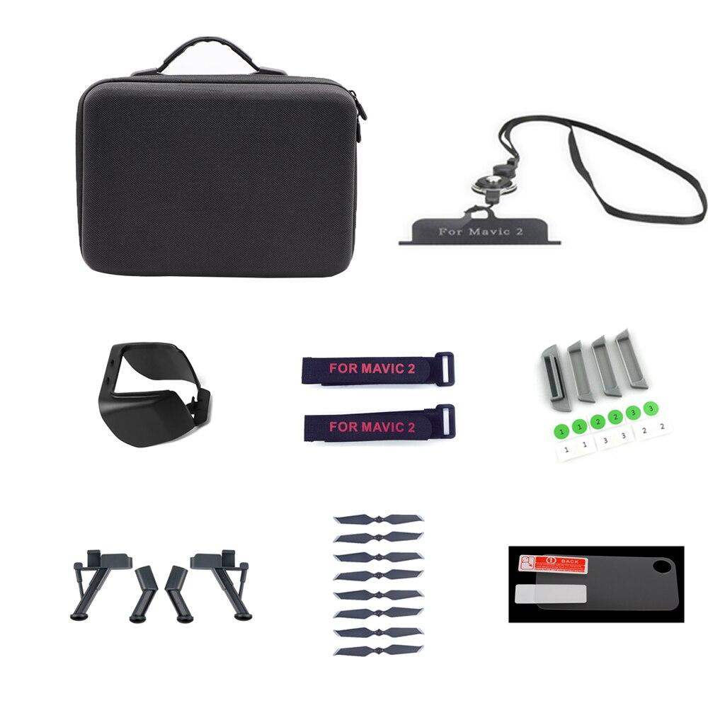 Drone Accessori Kit Per Dji Mavic 2 Pro/zoom Sacchetto Elica Pellicola Spina Controller Cinghia Di Carrello Di Atterraggio Di Magia Cinghia Nastro