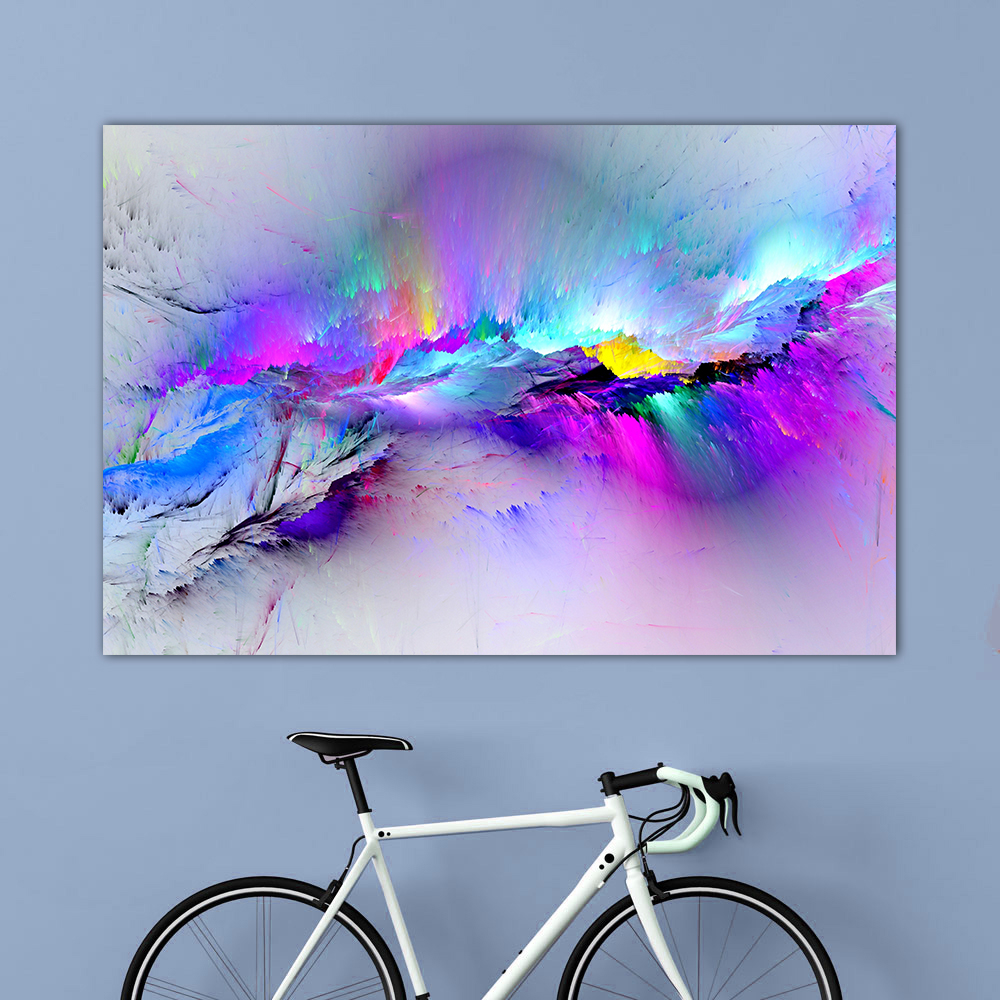 QKART Wall Art Unreal Cloud Wall Pictures For Living Room Landscape Abstract Painting On Canvas