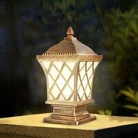 Европейский Светильники для крыльца античный сад без рядом с E27 лампы Открытый стены освещение стены, ворота виллы уличные фонари