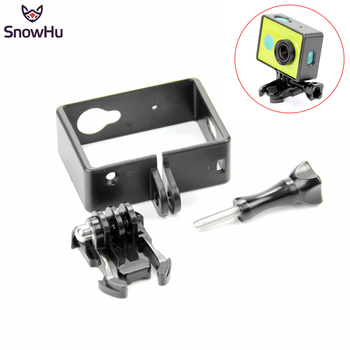 цена на SnowHu Camera Case Frame Cover for Xiaomi Yi Standard Protective Case for Xiaomi Yi Action Camera Accessories LD05