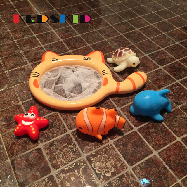 1 Sets Fishing Toys Network Bag Pick up Fish Kids Toy Swimming ...