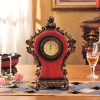 Manufacturers New Fashion Bedroom Accessories Retro Clock Clock Home Furnishing Resin Crafts Wood Ornaments