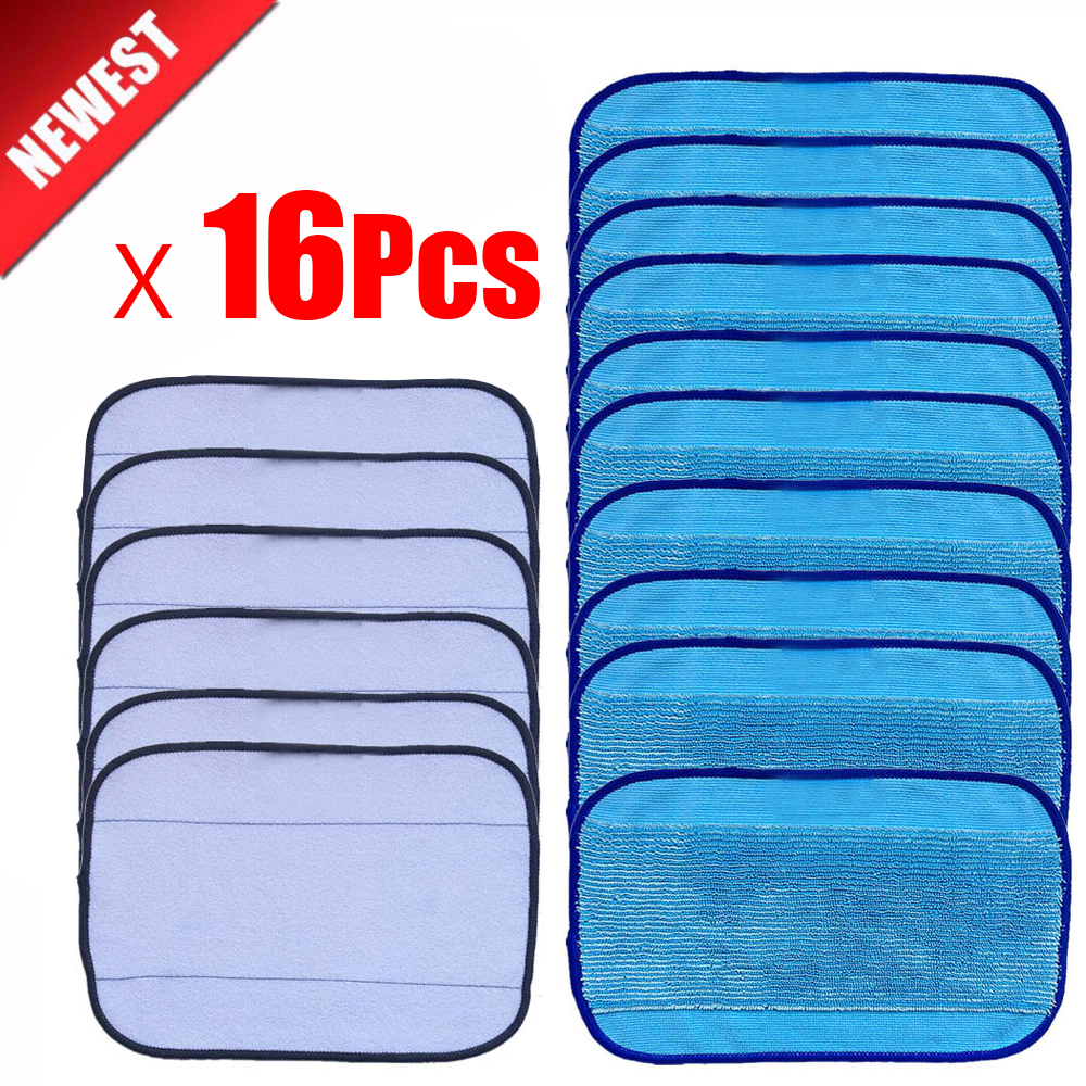 High quality 10pcs Wet +6Pcs dry Microfiber Mopping Cloths for iRobot Braava 321 380 320 380t mint 5200C 5200 4200 4205 Robot 12pcs wet cloths for braava replacement washable pro mopping cloths for irobot braava vacuum cleaner 380t 320 mint 4200 5200