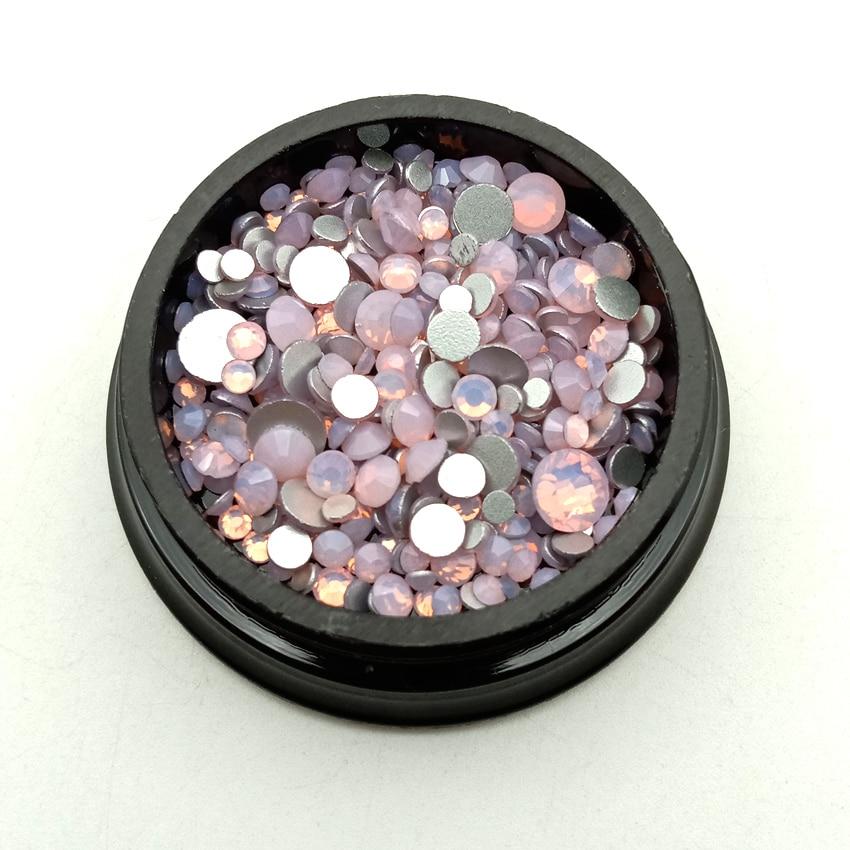Piedra de cristal oval de cristal de color opalino Coser en Ropa De Pedrería Manualidades Base De Oro