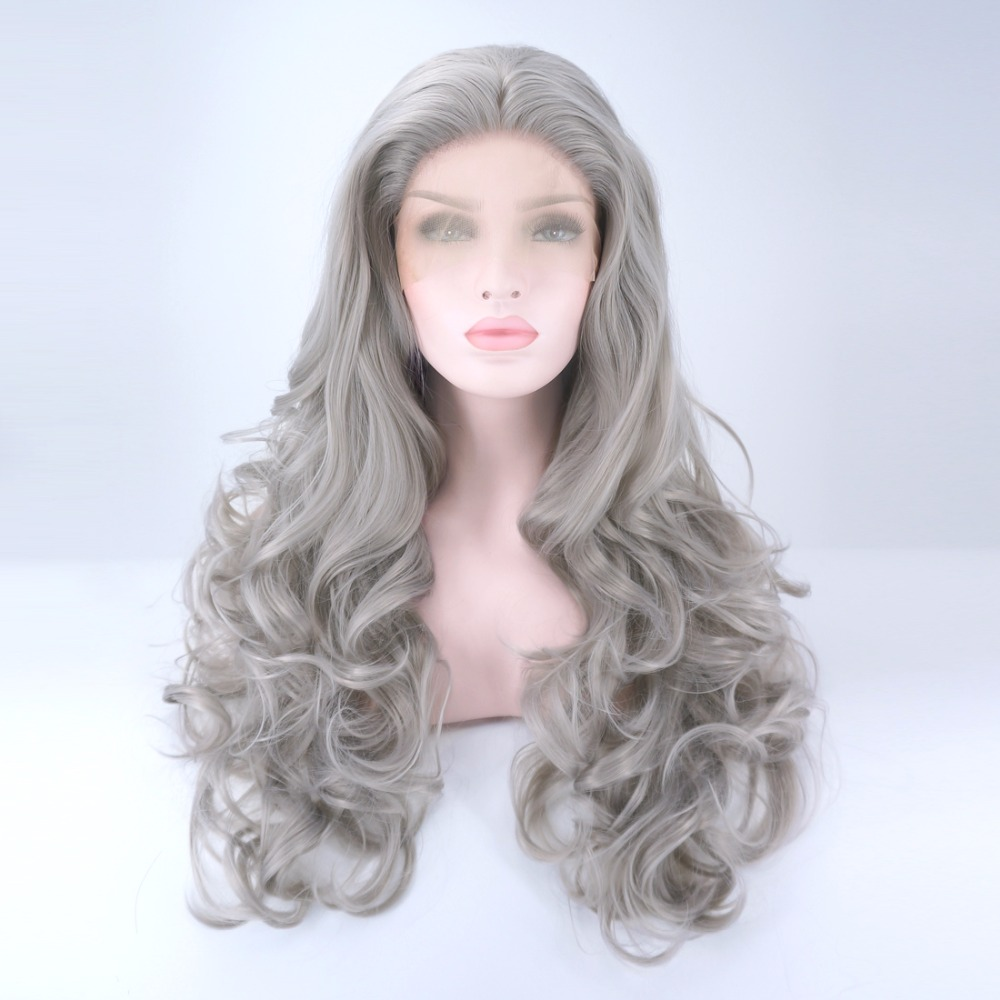 24 Quot Long Gray Curly Halloween Daily Fashion Hair Heat