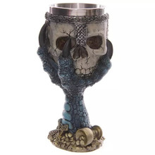 High Quality Skull Skeleton Hand Design Stainless Steel Mug Cup Wine bottle 3D Novelty Cup personalized gift