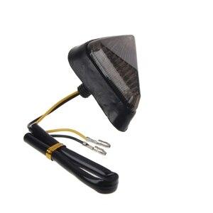 1 пара, треугольная заподлицо мотоцикла, сигнальная лампа, мигалки, световой индикатор, 9 светодиодных дымовых линз для Honda Yamaha Suzuki YZF GSXR