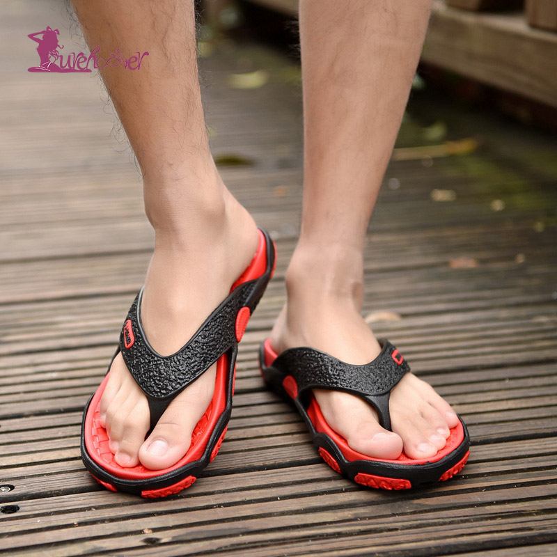 Lurehooker New Men Slippers Hot Summer Flip Flops  Fashion Outdoor Breathable Sandal Beach Indoor Slipper Man Flip Flops Crocse
