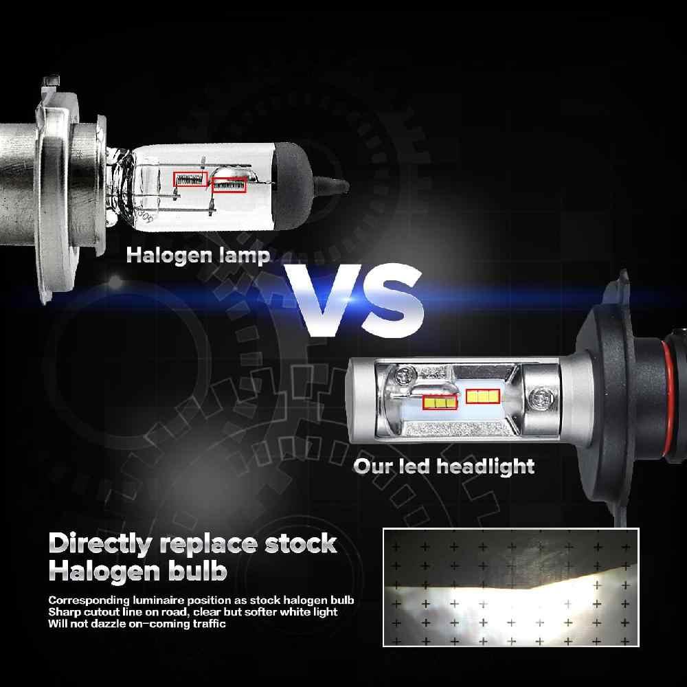 Auxmart 9005 HB3 9006 HB4 LED Headlight Car Lights 50W Auto LED H7 Headlight Bulbs LED H1/H3/H11 Car Headlamps 6500K 12V 24V