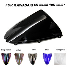 ABS Windscreen For Kawasaki Ninja ZX6R ZX10R ZX-6R ZX-10R 2005 2006 2007 2008 Motorcycle Windshield Iridium Wind Deflectors