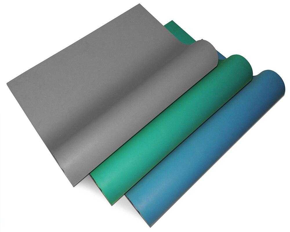 Expédition la plus rapide de Hongrie Bleu Gris Vert ESD Anitstatic Tapis rouleau Largeur 1 m ou 1.2 m Longueur 10 m terne 200D 2 Couches