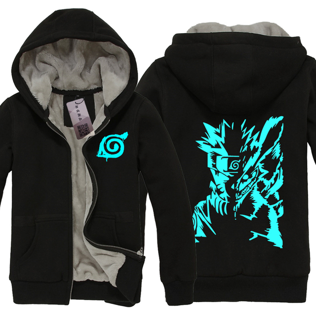 NARUTO Men Hoodies Warm Autumn Winter  Coat