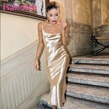 033f6396fcf1 Karlofea Gold Silky Long Sexy Backless Cowl Neck Maxi Dress Sleeveless  Club. US $18.18 / piece Free Shipping