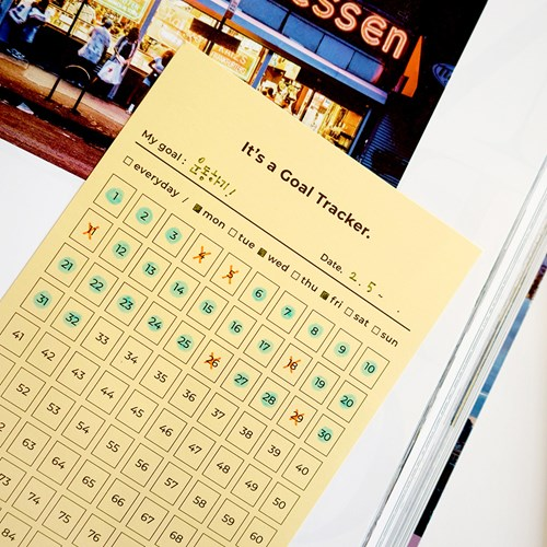 Goal Tracker-100day Pocket Agenda Memo Note 12 Sheets