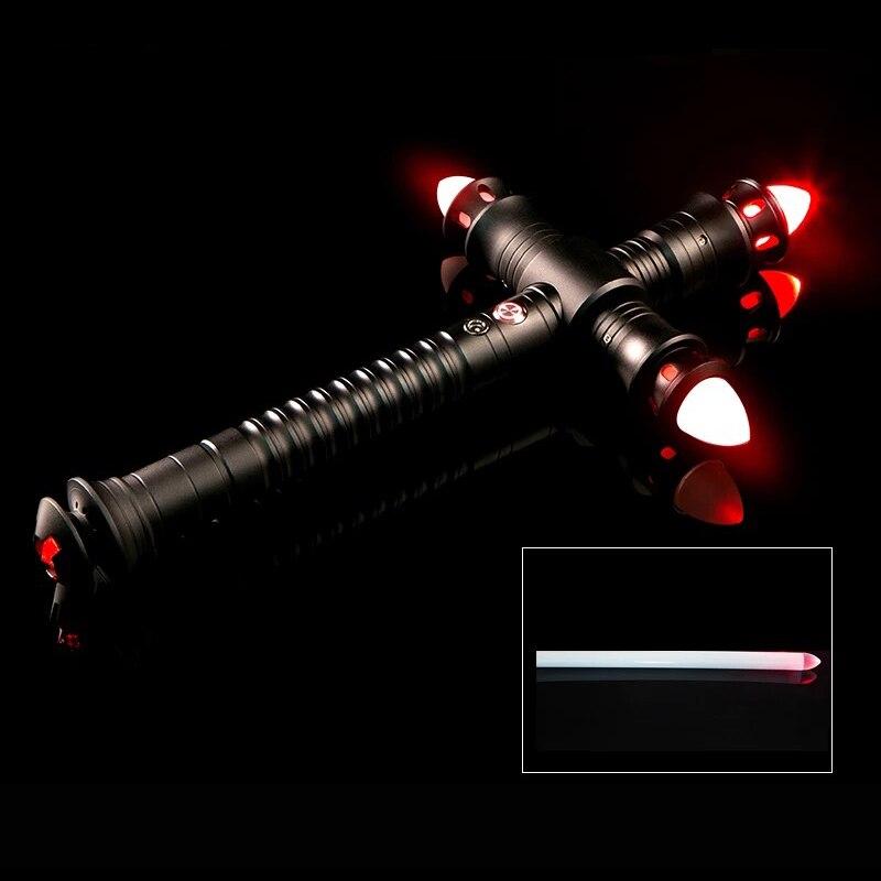 LGT sabre laser lourd Dueling LED sabre laser avec FOC Kylo Ren métal poignée Blaster Force sonore FX enfants cadeau