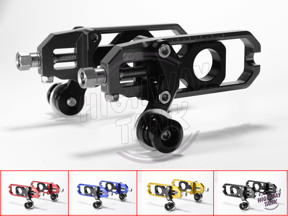 Free shipping all aluminum motorcycle chain adjuster case for YAMAHA YZF1000 R1 2004-2005 drive chain adjuster 4 colors