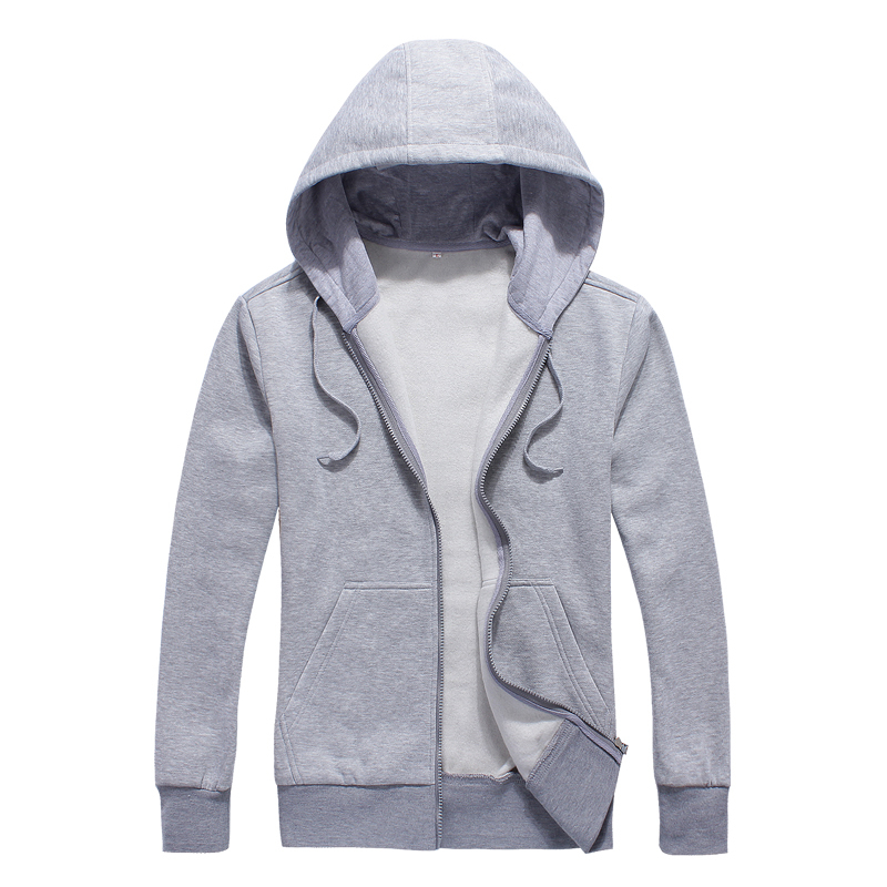 2018 Spring Autumn New Arrival Fashion Solid Color Even Hat Cardigan Zipper Loose Coat Tide Clothing Motion Hoodies