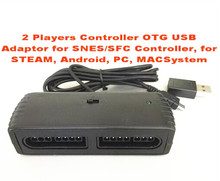 2 Players Controller OTG USB Adaptor for SNES Controller, for STEAM, Android, PC, MACSystem