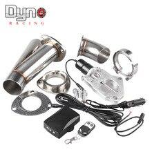 2 2,25 2,5 3 inche Электрический нержавеющий выхлоп вырезанный клапан/переключатель дистанционного управления TP022A+ TP024A