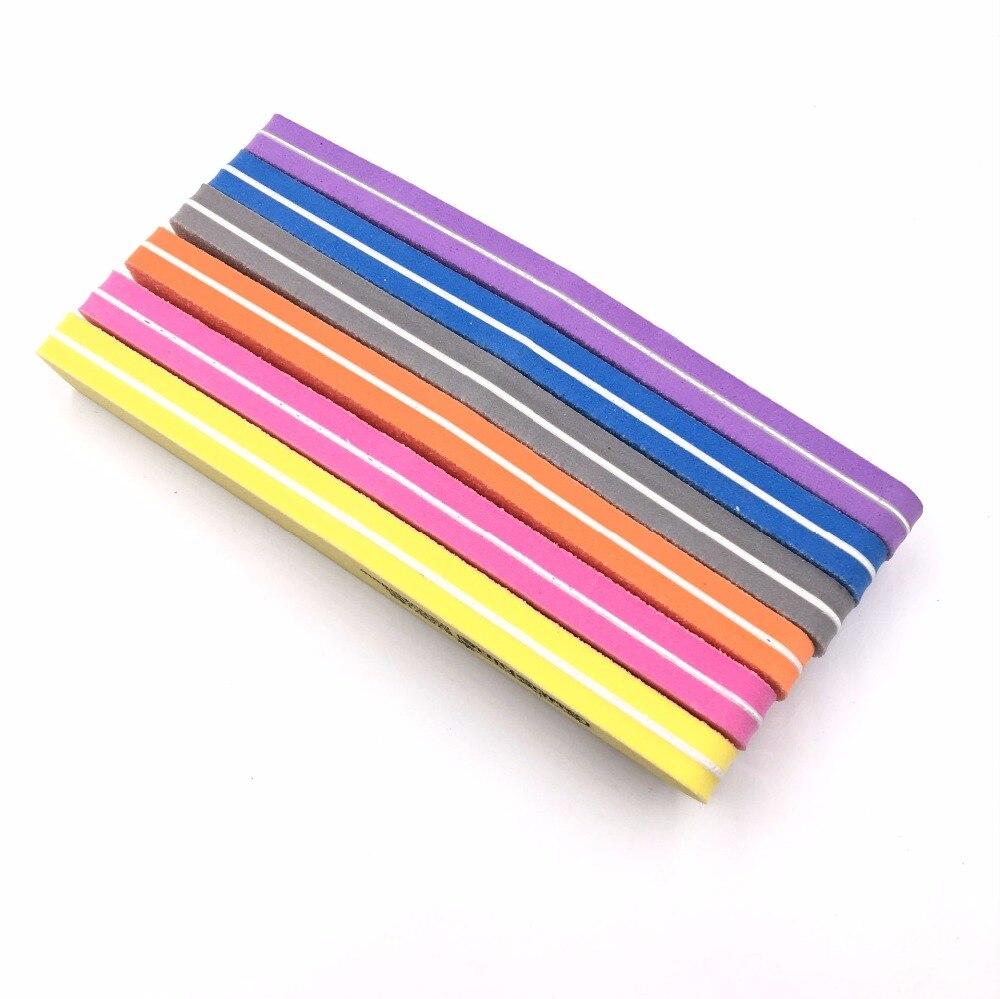 GUJHUI 5pcs/lot 6 Color sunshine Nail File Sponge Diamond Nail ...
