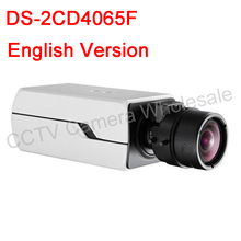 Free shipping English version DS-2CD4065F 6MP Smart IP Box Camera Support 128G POE HD Outdoor Bullet Network CCTV Camera