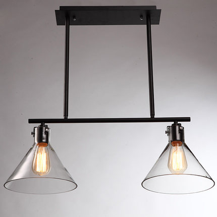 Modern Home 2/3 Head Loft Dining Room Pendant Light Vintage Glass Iron Living Room Light Bar Light Free Shipping
