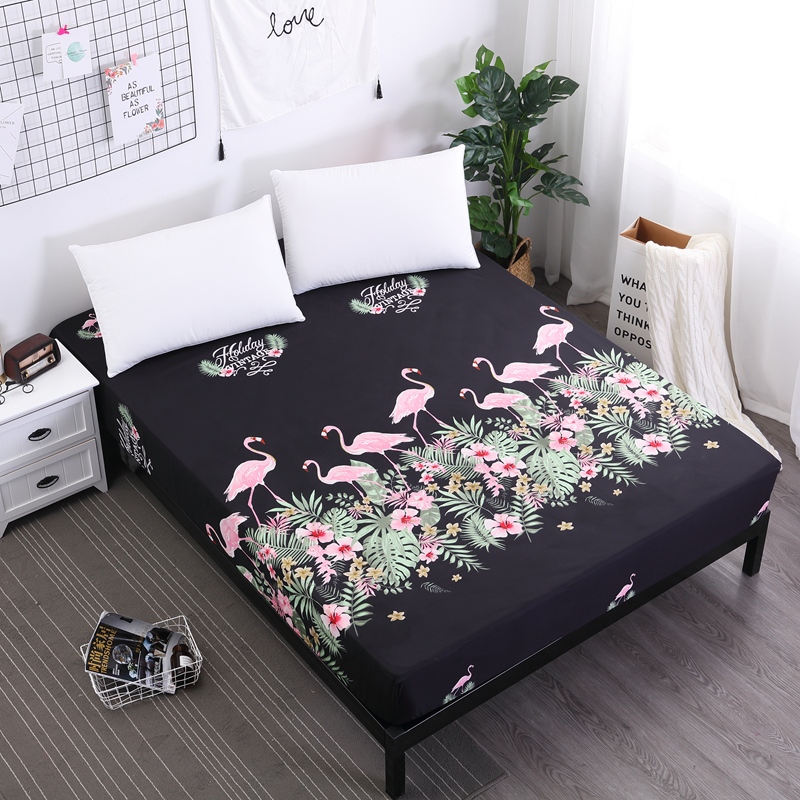 2018 New Printed Waterproof Mattress Cover With Elastic Waterproof Sheets Various Specifications