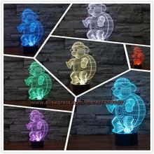 New font b 2017 b font Children s Day Turtle 3D Night Light Gradient Lights font