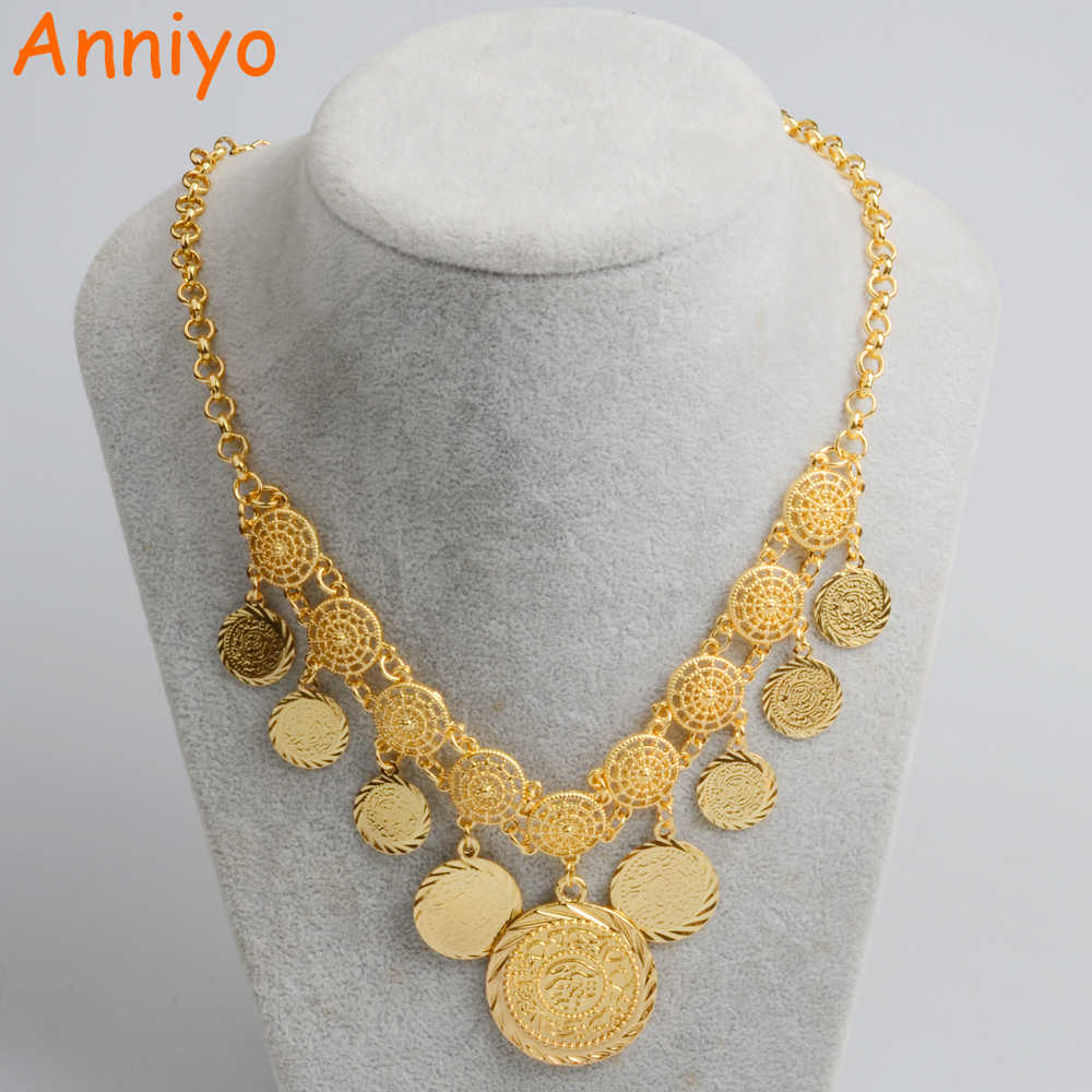 Anniyo New Design Charm Arab Coin Necklaces For Women S Gold Color Middle East Ancient Coins Jewelry African Girl 066106 Designer Necklace Necklace Designercoin Necklace Aliexpress