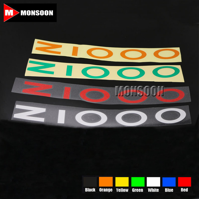 For kawasaki z1000 z 1000 motorcycle front rear custom inner rim decals wheel reflective stickers