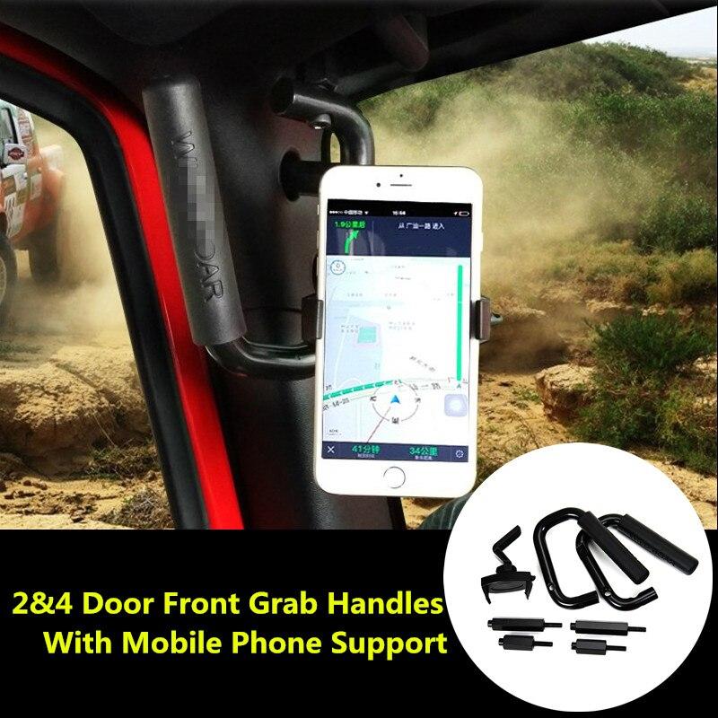 For Jeep Wrangler JK 2 & 4 Door 1 Pair Grab Bars Front Grab Handles 2007-2016 for jeep wrangler jk 2