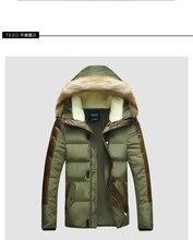 2015 новых людей зимняя куртка для мужчин толщиной теплая меховой капюшон лоскутное кожа Большой размер s-3xl 4XL 5XL зимнее пальто мужчины пуховики 5z