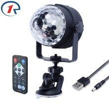 ZjRight ИК-пульт RGB светодио дный LED кристалл магический вращающийся шар сценический свет м 1 м USB 5 В в красочный КТВ DJ свет диско вечерние свет Вечеринка эффект света