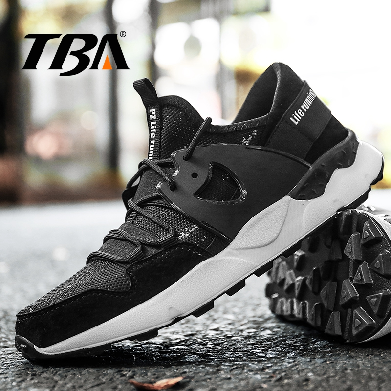 TBA Retro Men's Sneakers Breathable Air Mesh Running Shoes Lace Rubber Wedge Winter Sneakers Lace-Up New Black Men's Sport Shoes kelme 2016 new children sport running shoes football boots synthetic leather broken nail kids skid wearable shoes breathable 49