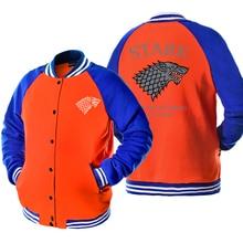 Hot New Jacket For Male 2017 Autumn Winter Men's Sportswear STARK/TEAM TARGARYEN Game Of Thrones Harajuku Streetwear Jackets Men