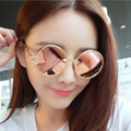 2017 Hot Sale Women  Retro Classic Round Box  Sunglasses Personality Dazzling Colorful Multicolor Frame UV400