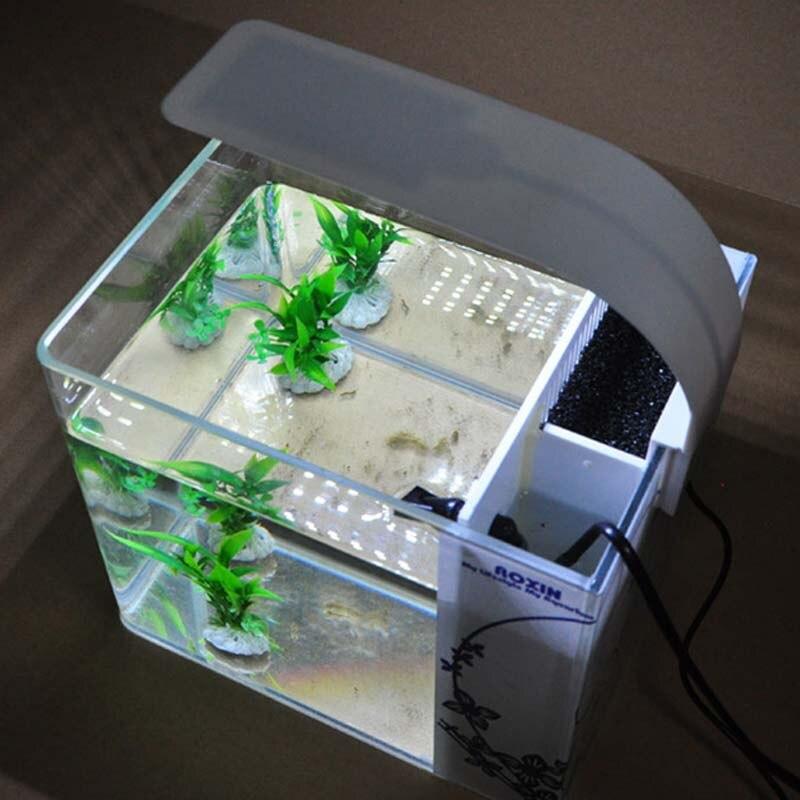Супер тонкий светодиодный свет аквариума освещения растений светать 10 Вт водных растений освещения Водонепроницаемый клип на лампы для ры...