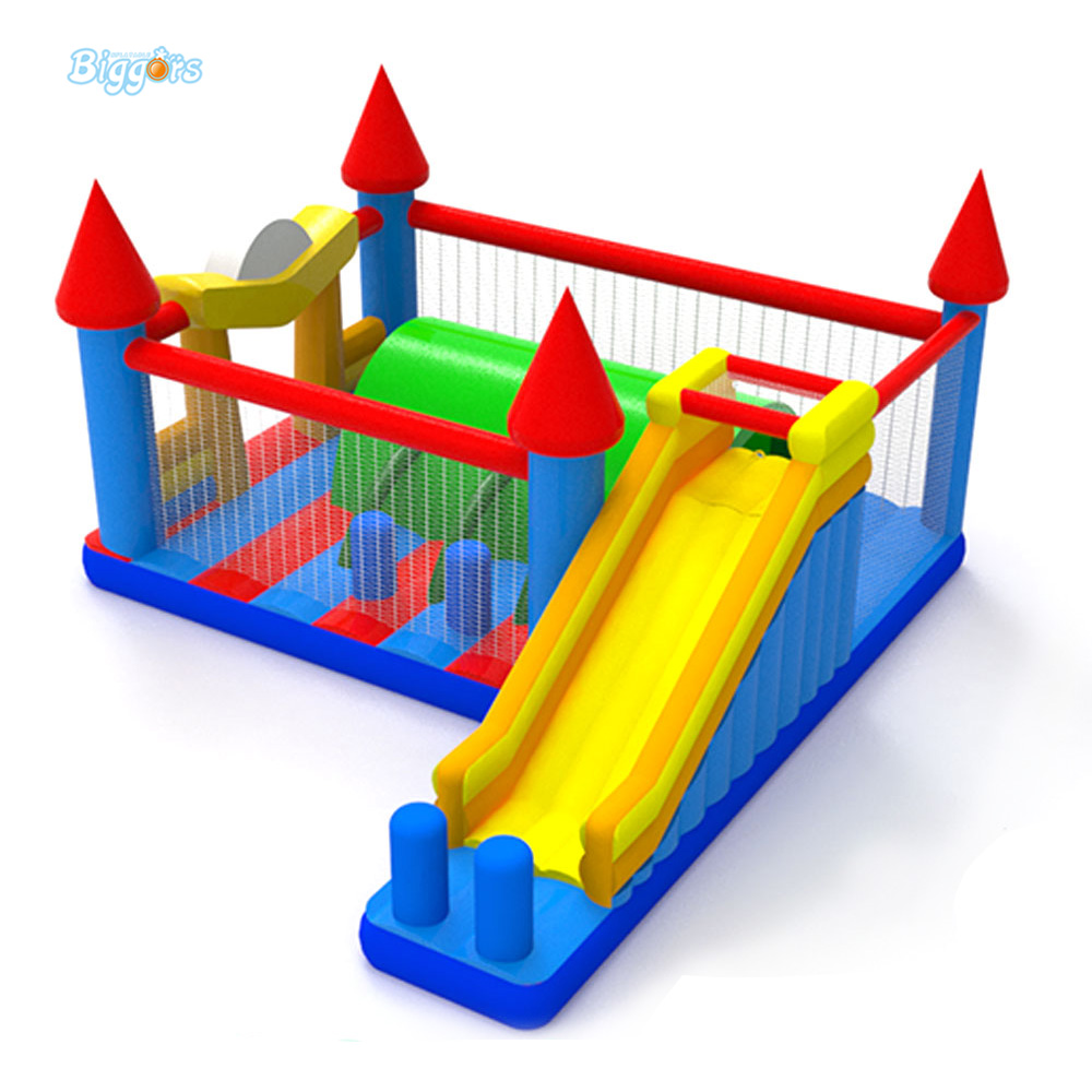 2017 Trending Hot Sale Inflatable Equipment Giant Inflatable Jumper Bouncy Castle With Slide For Rental Event giant super dual slide combo bounce house bouncy castle nylon inflatable castle jumper bouncer for home used