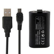 High Quality New Rechargeable 1400mAh Battery Pack With USB Cable for XBOX ONE Wireless Controller Replacement Battery Kits