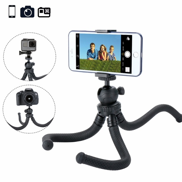low priced 3e265 ec4cc US $19.94 |Ulanzi Octopus Flexible Tripod for Smartphone, Tripod Stand with  Phone Holder for iPhone X XS Max 8 Huawei Samsung Gopro 7 6 5-in Live ...