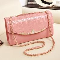 Luxury Women Crossbody Bags Female Messenger Bags Chain Designer Small PU Leather Crocodile Candy Bag Phone