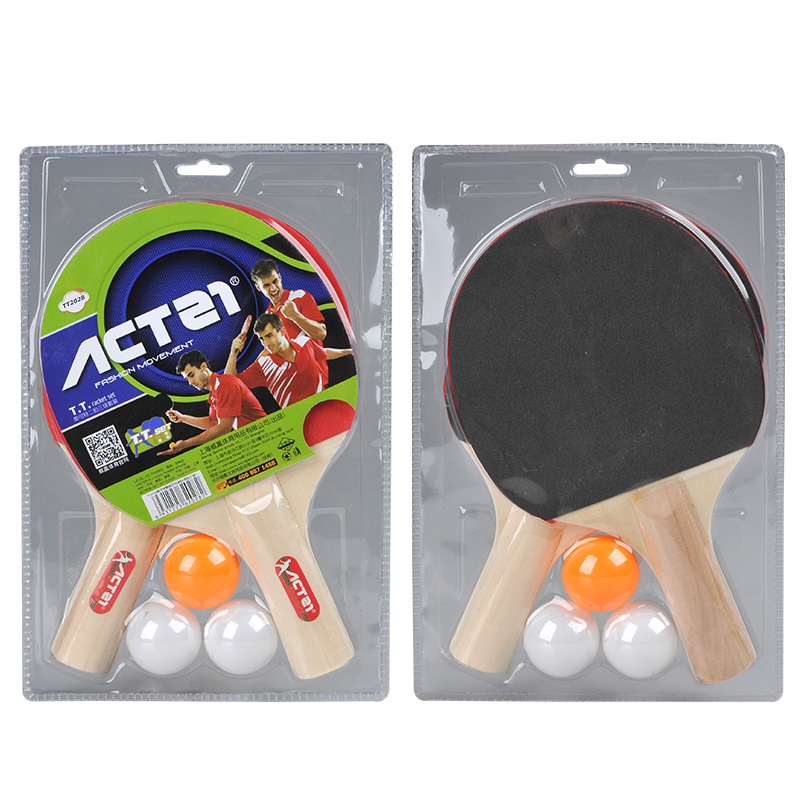 ACTEI 2028 Straight Grip Blade Table Tennis Racket Long handle Tennis Rubber Send 3 Balls Ping Pong Rackets mesa de som