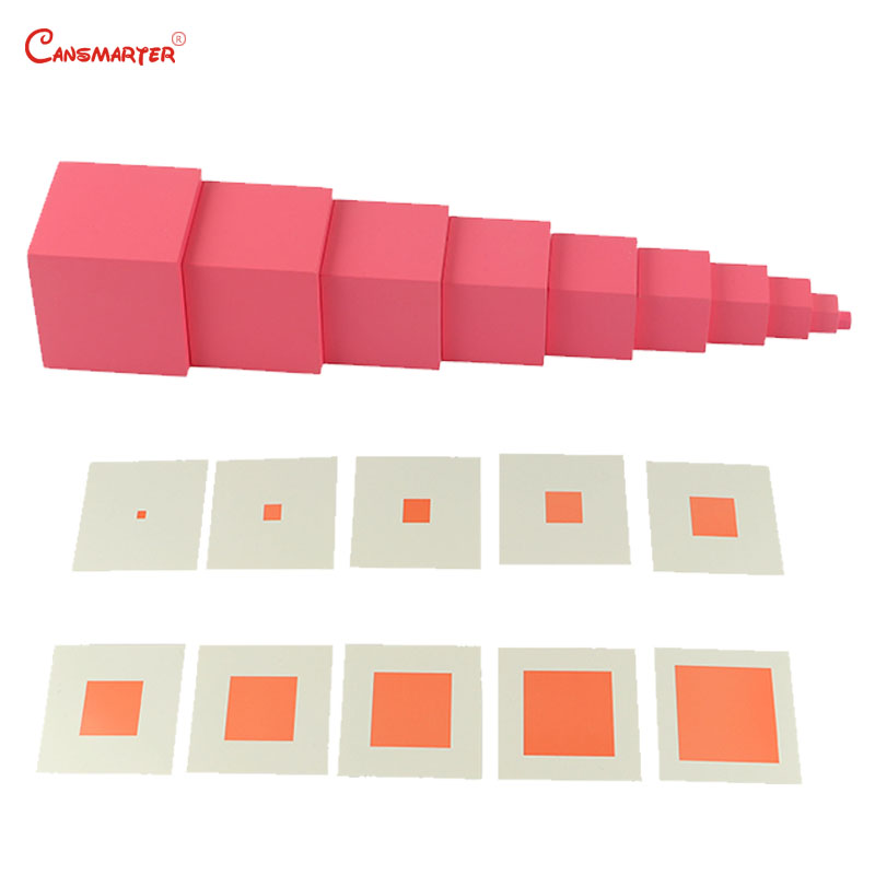 Flight Tracker Sensory Games Block Toys Pink Towers Home Plaing Training Math Toys Pink Towers Blocks Cubes For Children 3-6 Years Toyse003-jz3 Meticulous Dyeing Processes Model Building Blocks