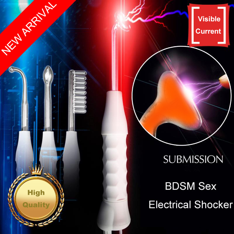 Electric Shocker Submission Electro Shock Nipple Stimulation Twilight Wand Massager Intimate Sex Products Sex Toys for Woman the submission