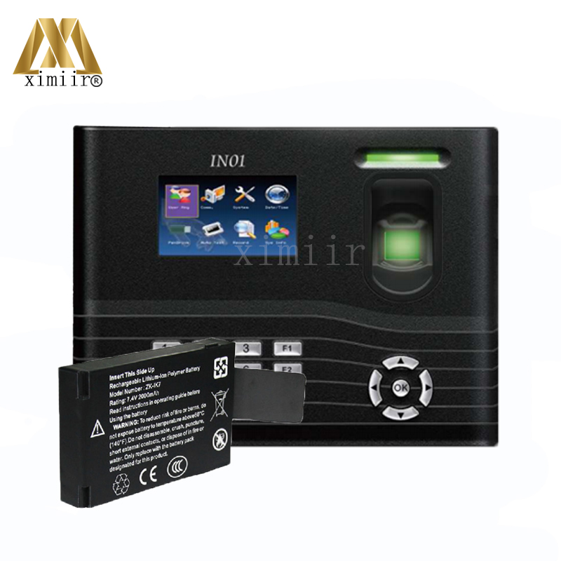 New Arrived ZK Biometric Fingerprint Time Attendance And Access Control ZK IN01 Door Access Control System With Backup Battery sparepart apple mouse battery bay access door new mspa2012 922 8794 new