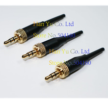 """Free Shipping 3PCS DIY 3.5mm 1/8""""  For Pro Sennheiser Sony Microphone Spare Plug adapter Stereo Screw Lock Connector"""