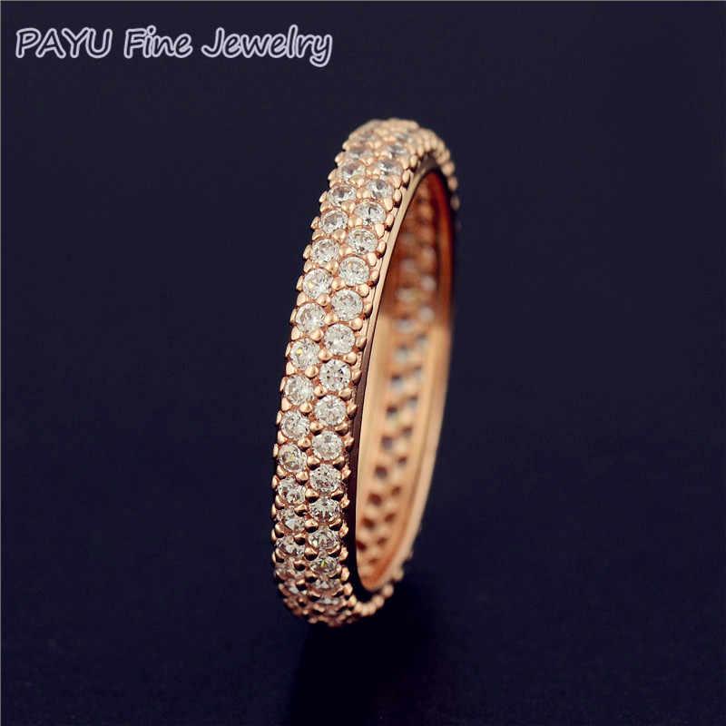 501d4241c8d4 PAYU розовое золото ювелирные изделия вдохновение в кольцо для женщин с  драгоценными камнями ювелирные украшения оптовая
