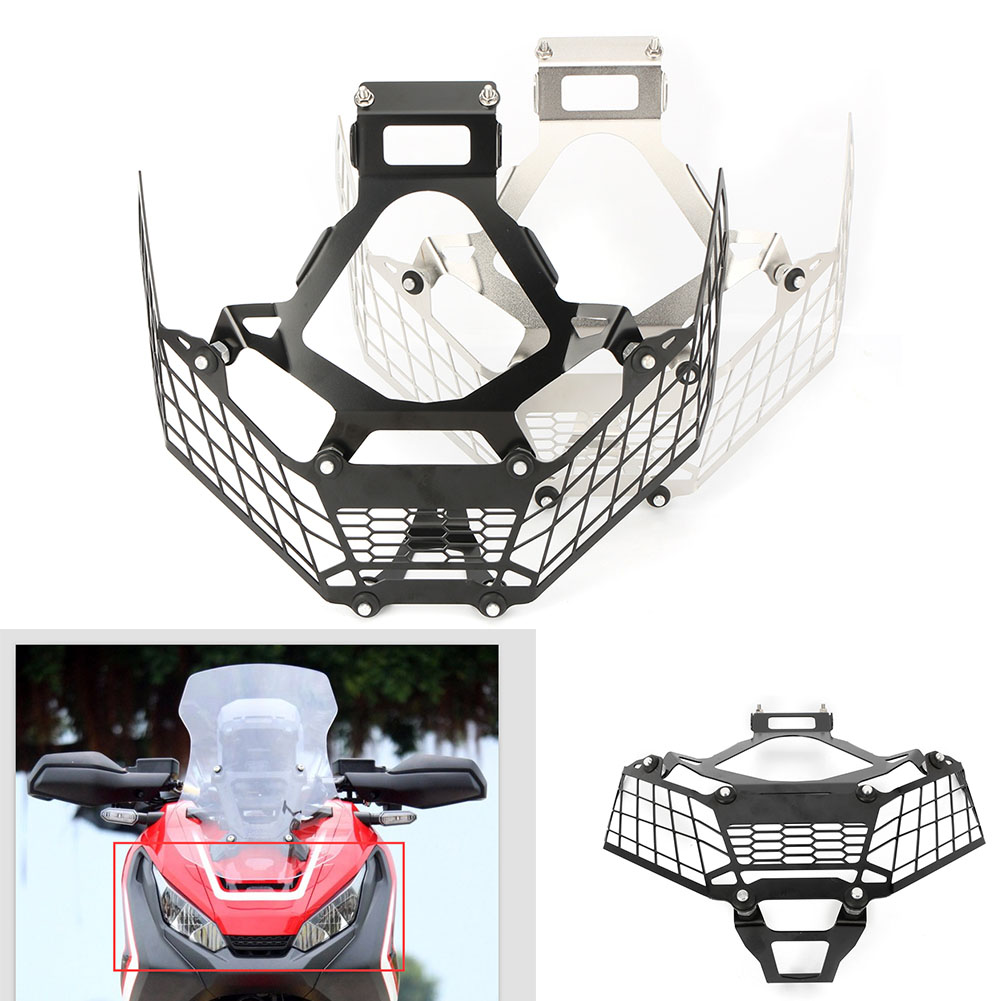 Motorcycle Front Headlamp Grill Headlight Grille Guard Cover For HONDA X-ADV XADV 750 2017 2018 max length retractable 2m 7ft usb 2 0 a male to mini usb b 5pin male curl coiled spring data sync charge cable cord