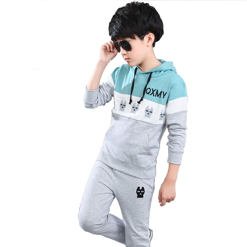 Children Clothing Sets For Boys Cartoon Sports Suits Autumn Tracksuits Teenage Boys Sportswear 2 3 4